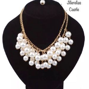 Pearl Multi Layer Necklace Gold New With Tags